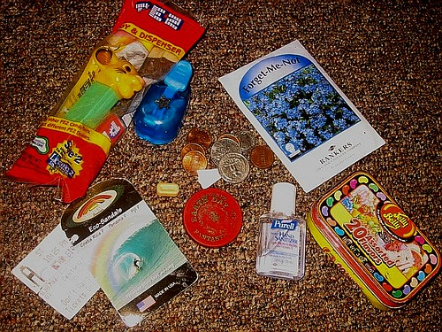flowers pez me trash movie toys tin star fantastic day hand hole earth tag ticket bean seeds belly purse penny change jelly quarter punch rainbows stub sams forget purell slammer pog sanitizer