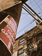 Looking up in Chinatown #2 (lazysupper) Tags: windows signs vancouver buildings chinatown fireescape walls guessed telephonepoles alleys guesswherevancouver pointsqueakymarmot