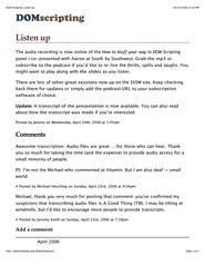 DOM Scripting blog in print