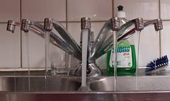A dishwasher's nightmare (Lillnea) Tags: water kitchen photoshop sink tap kiss2 kiss3 kiss1 kiss4 lovephotography kiss5