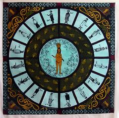 deposition (bean MOST) Tags: blue boy music green circle drawing christina goddess mother bean most textile fabric silkscreen frame characters velveteen printed deposition