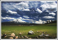 Mt Shasta, California USA (ladder_711) Tags: california blue sky sun white mountain green nature clouds wow wonder landscape amazing rocks magic surreal apex gradient shasta polarizer mountshasta brilliantlight