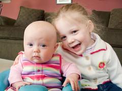 Say Cheese! (entropia) Tags: baby sisters ella g6 canong6 livvy