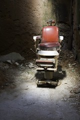 Red (kotobuki711) Tags: red urban philadelphia chair ruins pennsylvania decay urbandecay eerie explore prison barber philly esp easternstatepenitentiary penitentiary