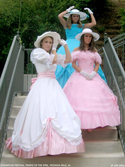 belles 2 (Dystopos) Tags: pink blue girls white colors girl festival hoop temple debs birmingham dress pastel south alabama grace southern dresses sybil bhamref dogwood antebellum dixie hospitality skirts gracious anachronism teenage belles genteel dogwoodfestival vestavia vestaviahills hoopskirts debutants shadesmountain vestaviabelles sybilline