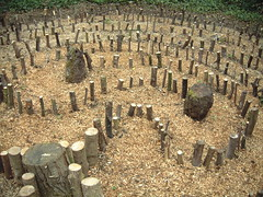 woodland labyrinth at core (crunklygill) Tags: rural woodland cotswolds sacred mayday labyrinth oxfordshire monastic sacredspace globalspirit