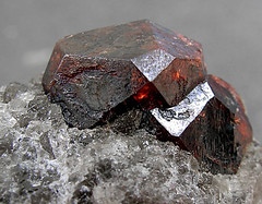 Almandine - Massachusetts (adamantine) Tags: red rock stone crystals crystal massachusetts twin mineral geology quartz gem garnet fitchburg granat mineralogy grenat almandine granaat petercristofono