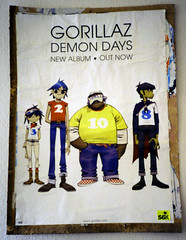 Gorillaz and 56k (DocZork - restless) Tags: poster sticker hamburg 2006 myroom gorillaz 56k demondays