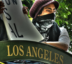 rebel with a cause (Kris Kros) Tags: california ca usa public face cali photoshop photography freedom la us losangeles interestingness high cool interesting nikon pix day dynamic mask cs2 quality labor alien protest belief 2006 ps right demonstration socal believe illegal kris range immigration hdr jjj struggle laborday equality righteousness kkg equal righteous nikoncoolpix may1 humanright 3xp interestingness13 photomatix illegalalien pscs2 kros kriskros kk2k kkgallery