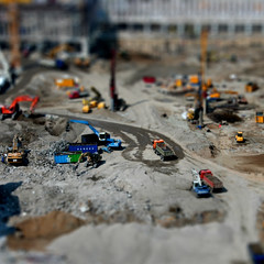 Construction site miniature (asthmatic) Tags: construction 500v20f fake cologne fair kln baustelle tradefair tiltshift faketiltshift 1000v40f fakeminiature top20faketiltshift