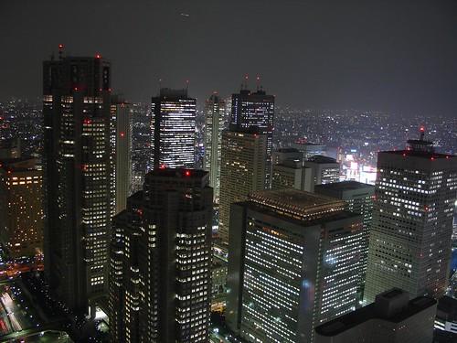 Shinjuku skyline at night, Tokyo by P F C.