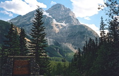 Canada 14 (SqueakyMarmot) Tags: mountain canada mountains film rockies day cathedral britishcolumbia rocky scanned filmcamera vivitar yoho aroundtheworldin80photos vivitarseries1500pz 500pz pwpartlycloudy