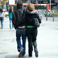 Fashion (koalie) Tags: madrid espaa fashion spain couple jeans cheeks buttocks 200605madrid