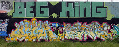Begr, King157 (funkandjazz) Tags: california graffiti oakland king characters eastbay beg tmf king157 mdk begr