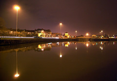 Cumberland Basin (Joe Dunckley) Tags: uk england night reflections bristol perspective floatingharbour hotwells bristolbynight cumberlandbasin