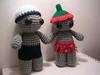james has a lady friend (sereneonion) Tags: boy girl doll handmade crochet showgirl etsy amigurumi