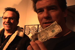 Tom Arnold and Pierce Brosnan