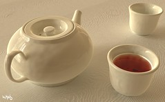 Tea (Bill Hails) Tags: tea raytrace chinesetea povray