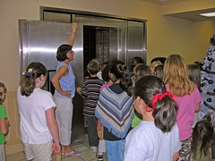 Students Enter the Bank Vault