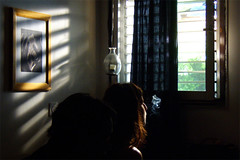 Smoke (Dror Miler) Tags: people window smoke illumination cinematography  nuir filmnuir