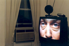 the tv has eyes (tashalutek) Tags: house window brooklyn weird tv surprising tashalutek