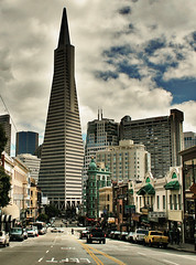 dark tower (obeck) Tags: sanfrancisco sf california sky street urban tower downtown clouds city canon building architecture favorite northbeach wow interestingness surreal