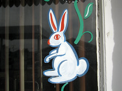 Bunny (jschumacher) Tags: bunny kansas wilson windowpainting wilsonkansas czechcapitalofkansas