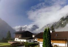 Foggy morning (dellafels) Tags: sky mountain snow alps topv111 fog clouds landscape austria bokeh kiss2 1on1 rauris 2on2 dellafelspic kiss1 kiss4 kiss5 kiss33
