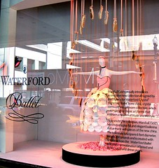 200 pound porcelain tutu (kel1) Tags: pink flowers ballet chicago mannequin illinois ballerina il macys plates windowdisplay marshallfields tutu choker dishware balletslippers