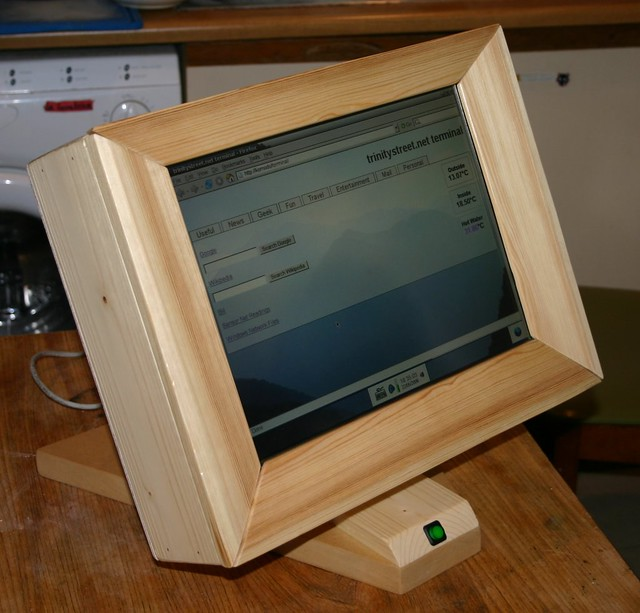 Wooden Touchscreen Terminal - front