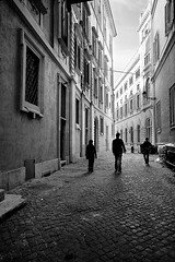 Walking Through Rome... (Serrano77  BIG Papa......) Tags: street city girls people urban bw italy rome roma building boys digital canon wow easter walking landscape person eos photo blackwhite walk 2006 palazzi serrano77