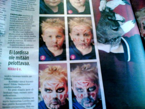 Lordi make-up for children