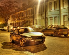 my road HDR night shot - by strollerdos