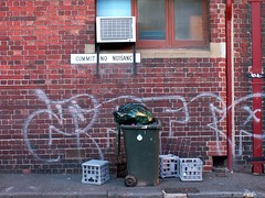 No Nuisance Here (Leon Sammartino) Tags: streets back alley minolta no air melbourne bin konica
