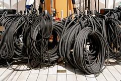 Ropes (neilbruder) Tags: uk ship portsmouth ropes naval upperdeck hmswarrior
