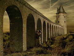 When We Kiss (Mattijn) Tags: summer castle kiss kissing arches photomontage mattijn amersfoort anideg