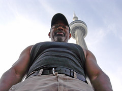 Collossal Kev vs. The CN Tower (kchbrown) Tags: toronto me cntower
