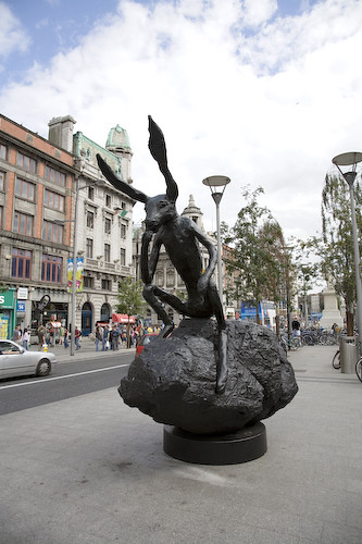 HARE IN O'CONNELL STREET (pun intended)