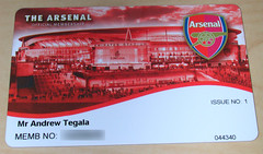 Arsenal Red Membership Card (T3G) Tags: arsenal gunners emiratesstadium gooners membershipcard arsenalfootballclub highburyfootballstadium