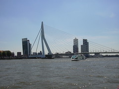 Boattrip Kinderdijk (Miek37) Tags: bridge holland netherlands dutch skyline architecture river geotagged boat rotterdam brug maas boattrip kinderdijk erasmusbrug spido erasmusbridge geo:lat=51908432 geo:lon=4488344