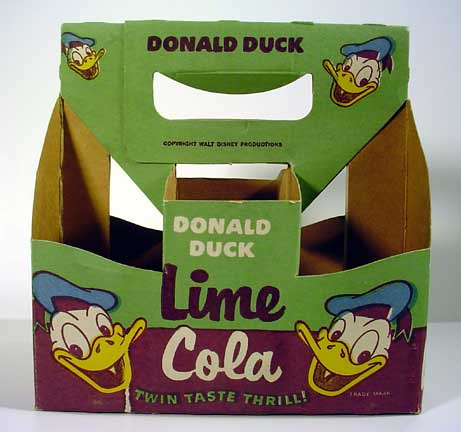 Donald Duck Lime Cola Carton da Neato Coolville.