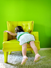 uncooperative (sesame ellis) Tags: green yellow catchycolors chair toddler bright mykid year2 ppg ppm exploretop20
