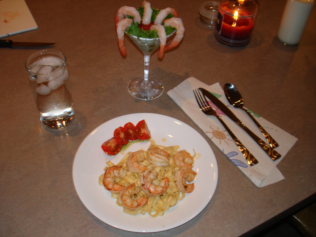 Shrimp Extravaganza- Shrimp Cocktail and Shrimp Scampi