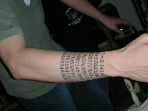 Sunday Flickr Favourites brings you a cool Pi tattoo.