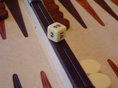 doubling cube (Gary Thomson) Tags: backgammon