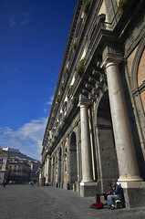 The Piazza in Naples (bgladman) Tags: city travel italien italy architecture photography photo nikon europe italia d70 stock explore napoli naples piazza busker nikkor nikondigital italie   blgadman italiya brendangladman   a