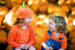 have a happy pumpkin day (-Angela) Tags: fall halloween smile virginia pumpkins siblings thedaughter theson 50100fav mykids tradition