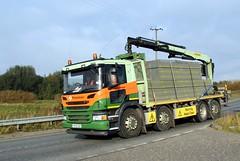 Plasmor Blocks 25th October 2016 A614 Double Bridges (asdofdsa) Tags: hgv haulage transport trucks thorne eastcowick a614 scania