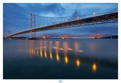 Blue hour on the forth bridge (darkshine231) Tags: bluehour forthbridge edinburgh queensferry scotland cityscape lights view fujifilm xt2 fujinon colors morning