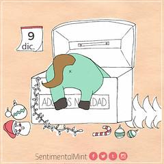 Armando el árbolito (SentimentalMint) Tags: unicornio verde menta adornos armar árbol cute dibujo diciembre ilustracion navidad pink tarde